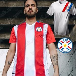 Paraguay National Copa América Football Team 2020 2021 Nouveau Soccer Accueil Rouge Élevé Blanc Jerseys Hombres Camisetas de Fútbol Hommes Chemises