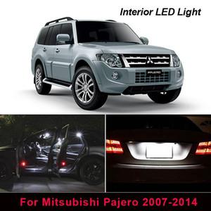 14pcs lampadine dell'automobile LED bianco automatico Luci interne Per 2007-2014 Mitsubishi Pajero Montero V80 di cupola Tronco targa Luce