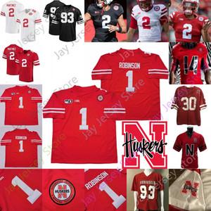Nebraska Cornhuskers Football Jersey NCAA Adrian Martinez Dedrick Mills Wan'Dale Robinson Lucas McCaffrey Austin Allen Will Honas