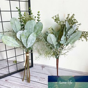 NEW Series of Artificial Flowers+leaves Bundle Faux Foliage Eucalyptus Home Wedding Decoration Fake Plants Greens