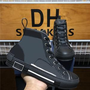 Top Quality B 22 23 High Top Bee ricamo obliquo scarpe da ginnastica tecniche di lusso Designer scarpe da uomo donna piattaforma in pelle scarpe casual
