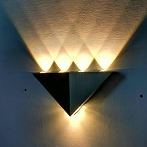 Nordic Triangle Wall Lamp Outdoor Indoor Up Modern Aluminum 4 Leds Wall Light For Home Stairs Bar Bedroom Bedside Decor Lighting