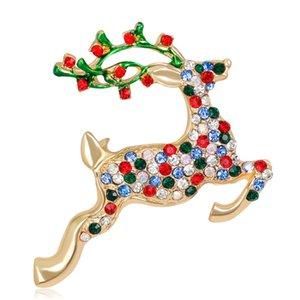2020 Sika Deer Spilla per Pins Party Animal Moda e spille per le donne del Rhinestone sveglio Spille Badge per i vestiti