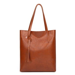 Tote Bag Holdall Shopping Bag for Women Leather Handbags Simple Ladies Shoulder Bags