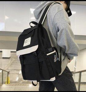 PB3852 Harajuku Студенты средней школы Повседневная простой рюкзак Ins Мода Trend College Student Campus Rackpack