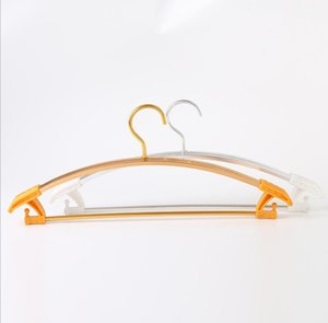 Strong Thick Cloth Hangers Aluminum Metal Hanger For Clothes Suit With Trouser Bar