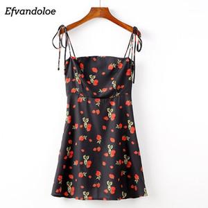 Efvandoloe сексуальное летнее пляжное платье 2020 повязка Bodycon Spaghetti ремешок женские платья мини-клуб Sundress1