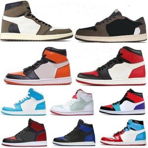 1S High Travis Low Dark Dark Memha 1 Mens Basketball Chaussures Zoom Racer Scolaire Blue Ombre Obsidienne Sports Sports Sneakers Jumpan Jumpman