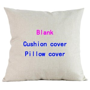 Large Blank Cushion Cover For Thermo Transfer Print Painting Canvas Linen Sofa Pillow Case Customer's DIY Throw Pillowcase 45x45