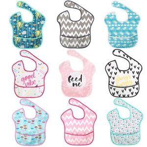 1PC Baby Silicone Bibs Waterproof Silicone Infant Baby Feeding Saliva Towel Cloth Newborn Cartoon Aprons Bibs Saliva pocket gown