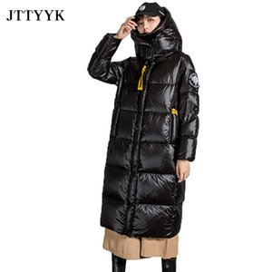 Women's Down & Parkas 2021 Winter Coat Women Casual Long Jacket Hooded Cotton Padded Snow Ropa Mujer