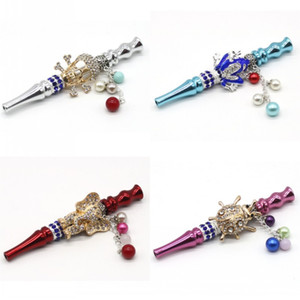 Картина животных Металлические курительные трубы с Bling Jewellery Design Design Holder Holdah Shisha Seven Star Ladybug Stephant 14KL D2