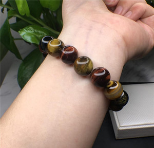 Natural Tiger Eye Crystal Stone Round Bead Stretch Beaded Bracelet Quartz Rock Healing Cryst bbytiO yh_pack