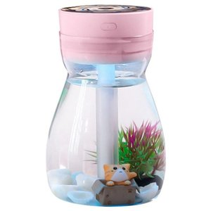 Cute Cool Mist Humidifier Office Bedroom Air Purifier Usb Charging Kawaii Air Humidifier With Led Light Moisturizing Bottle(