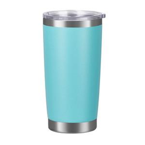 20oz carros de carro de aço inoxidável tumblers copos de vácuo isolado caneca de viagem de metal cerveja de garrafa de água caneca com tampa 18 cores