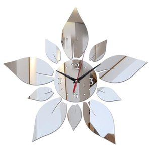 Mirror Acrylic Material Single Face Wall Stickers Modern Style Wall Quartz Clocks Home Decor Watches Silver CNIM Hot
