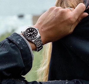 36MM small size men women watch wristwatch sapphire waterproof KRF Best Edition quality Blue Dial SS Bracelet 2824 automatic 79500 watches