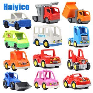 Vehicle big building blocks trucks accessories compatible Duplos car model Ambulance Bulldozer education Toys For children Gift