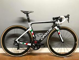 Champion du monde Cipollini Nk1k Carbon Road Complete Bike avec 5800 ou R8000 GROUPSET NOM UNIQUE PERTÉRIQUE Autocollants National Drapeau