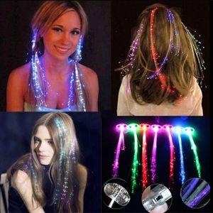 Flash LED Hair Light Emmenant Fibre optique Pigtail Pigtail Pile PLAID PLAIMENT PERSONNES DE PERSONNES PERSONNES PERSONNES DE PERSONNES DE PERSONNES DE FESTIVAL DE CHRISSION DE NUIT DE LA NIGUEUR DE NUIT DE LA NUIT