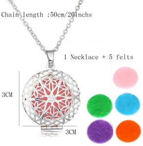 Hot Vintage Opening Locket Pendant Necklace Copper Hollow Flowers Essential Oil Diffuser Necklaces Aromatherapy Pendants Jewelry Gift