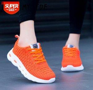 2020 naranja casual con mosca de aire de malla zapatillas transpirables Chaussure Femme Deporte Plataforma para mujer zapatos para mujer Zapatos Mujer # NU1Q