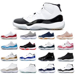 2020 11S Basketball shoes Men Women Space Jam Concord New Bred Legend Gamma blue UNC Gym SatinJordanRetro sneakers