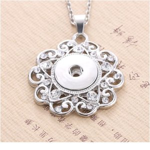 Boom Life 2018 New Fashion Beauty Pendant Crystal Snaps Necklace Fit Diy 18mm Snap Buttons Jewlery Wholesa bbynhz