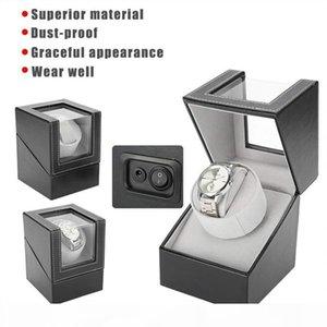 Automatic Rotating Watch Display Box PU Watch Winder Holder Jewelry Case Storage Organizer Box Black Brown