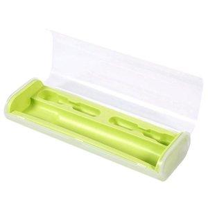 Tragbare elektrische Zahnbürste-Halter-Kasten-Kasten-Reise-Camping für Oral-B 4 Farben (Grün)