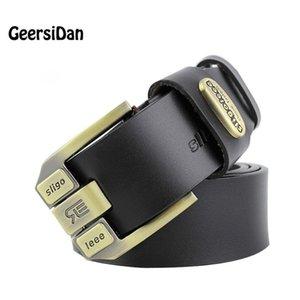 GEERSIDAN 100% For Quality 2020 Buckle Men Leather Belt Cintos Men Brand Male Genuine High Pin Fancy Vintage Jean Cow Strap Belt Esauc