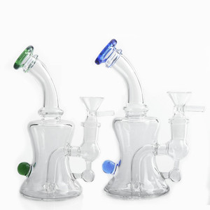 Beracky 6inch Glass Water Bongs With 14mm Glass Bowl Colorful Heady Glass Water Pipes Beaker Bongs Dab Oil Rigs Recycler Bong For Smoking