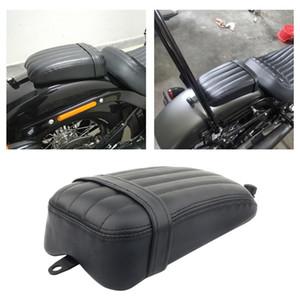 Sella di moto in pelle moto artificiale Pillion posteriore Pad passeggero del sedile per Harley Motorcycle