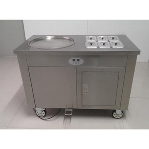 CE certified fried ice 220V 1200W fried ice cream machine   fruit salad machine   pizza commercial profit best choice
