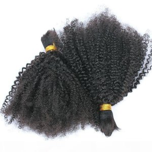 Human Braiding Hair Bulk no weft Unprocessed Kinky Curly Unprocessed Human Hair for Braiding Bulk No Attachment Brazilian Hair Bulk