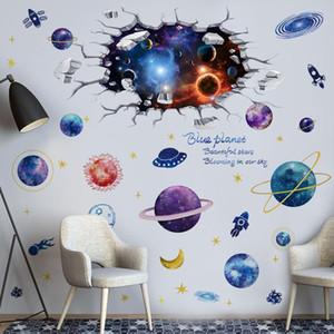 [Shijuekongjian] Universo Cuerpo Celestial Pegatinas de Pared DIY Planetas Mural Calcomanías para niños Habitaciones Cuarto de vivero Decoración de techo