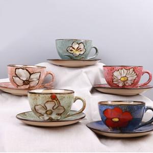 Copos de cerâmica de uso Japão e Coreia do Sul Europeia estilo americano retro placa de café hmade de café por conjunto x1027