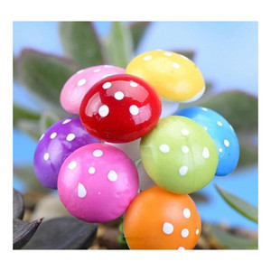 7 colors 2cm 3cm fairy foam mushroom colorful garden miniature decorations artificial plants garden gnome cute mushroon