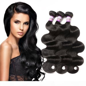 9a Brazilian Virgin Human Hair Body Wave Brazilian Human Hair 3 or 4 Bundles Body Wave Natural Black Color Unprocessed Remy Hair Extensions