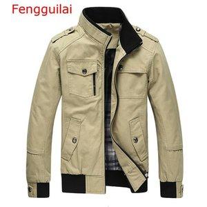 Fengguilai Casual Erkek Ordusu Askeri Ceket Erkekler Coats Kış Erkek Dış Giyim Sonbahar Palto Haki 5XL