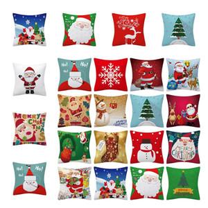 Noel yastık kılıfları Dekoratif Yastık Koltuk Kanepe Sandalye Yatak yastık örtüsü T10I0036 için Tatil Yastık Kılıf Kare Ev Dekorasyonu Kapaklar