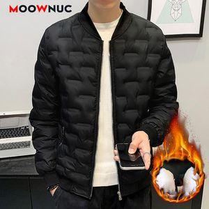 Casual Male Parka Abrigo 2020 espesa la chaqueta para hombre Outwear a prueba de agua caliente Nueva Otoño Invierno térmica Homme Coats 4XL MOOWNUC