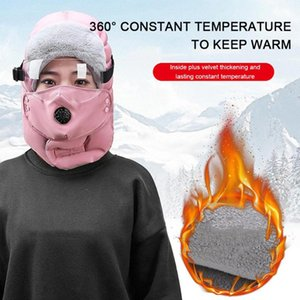 Winter Warm Face Mask Cold-Proof Lei Feng Cap Transparent Eye Mask Men And Women Cycling Windproof Earmuffs Face Protection