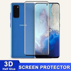 Vetro temperato curvo 3D Semi colla per Samsung Nota 20 Ultra S20 S10 S9 Nota 10 9 Plus Mate 30 P40 Pro Gream Protector con scatola al minuto