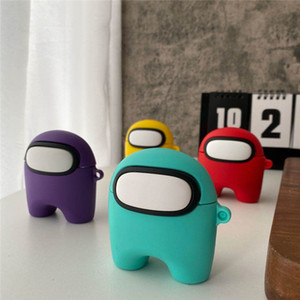 For Airpods 1 2 Pro 3 Silicone Case Soft Ultra Thin Protector Airpod Cover Among us Cartoon Earphone Cases DHL Free
