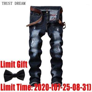 Klassische Männer Jeans Distressed Slim Stonewash Kratzte Männer Casual Denim Hosen Streetwear Erstaunliche Männliche Jean Hombre Homme Houser1