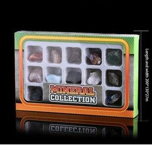 12-in-1 Kombinasyon Set Doğal Kaya Kristal Mineral Takı Ev Dekorasyon Çalışma Odası Dekorasyon DIY Hediye Ücretsiz Qylnxs