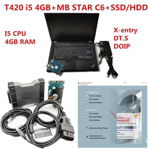 2020 high performance Laptop T420 4GB with MB STAR C6 SD CONNECT Diagnostic Tool with v2020.09 software hdd ssd support wifi