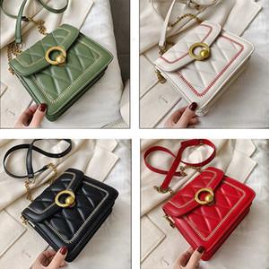 مصمم الأزياء حقيبة مدرسية حقيبة السيلوفان حقيبة الماس شعرية المرأة الكتف حقائب baggu سستة نمط الصلبة لون أكياس الكتف