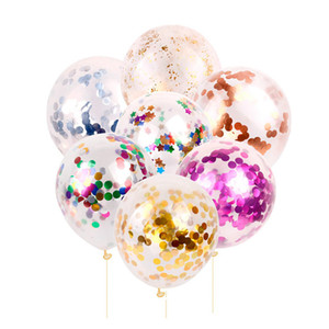 16-inch 2.8-gram Round Foil Confetti Latex Balloons Wedding Birthday Christmas Party Helium Balls Kid Toy Decor Gifts ZL21